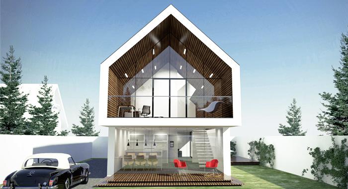 projekt wąskiego domu