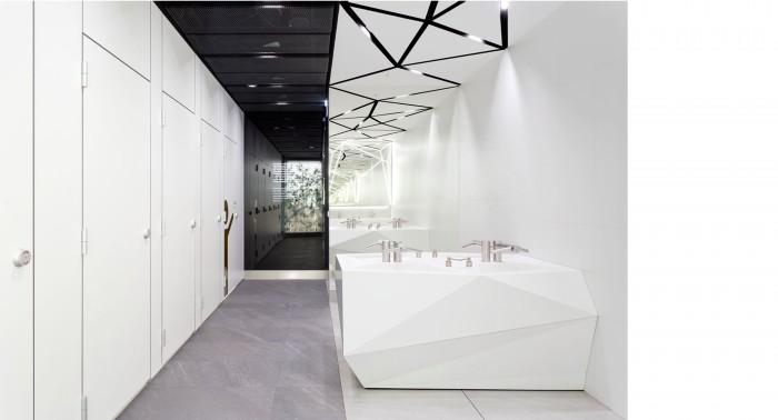 modern toilet interior